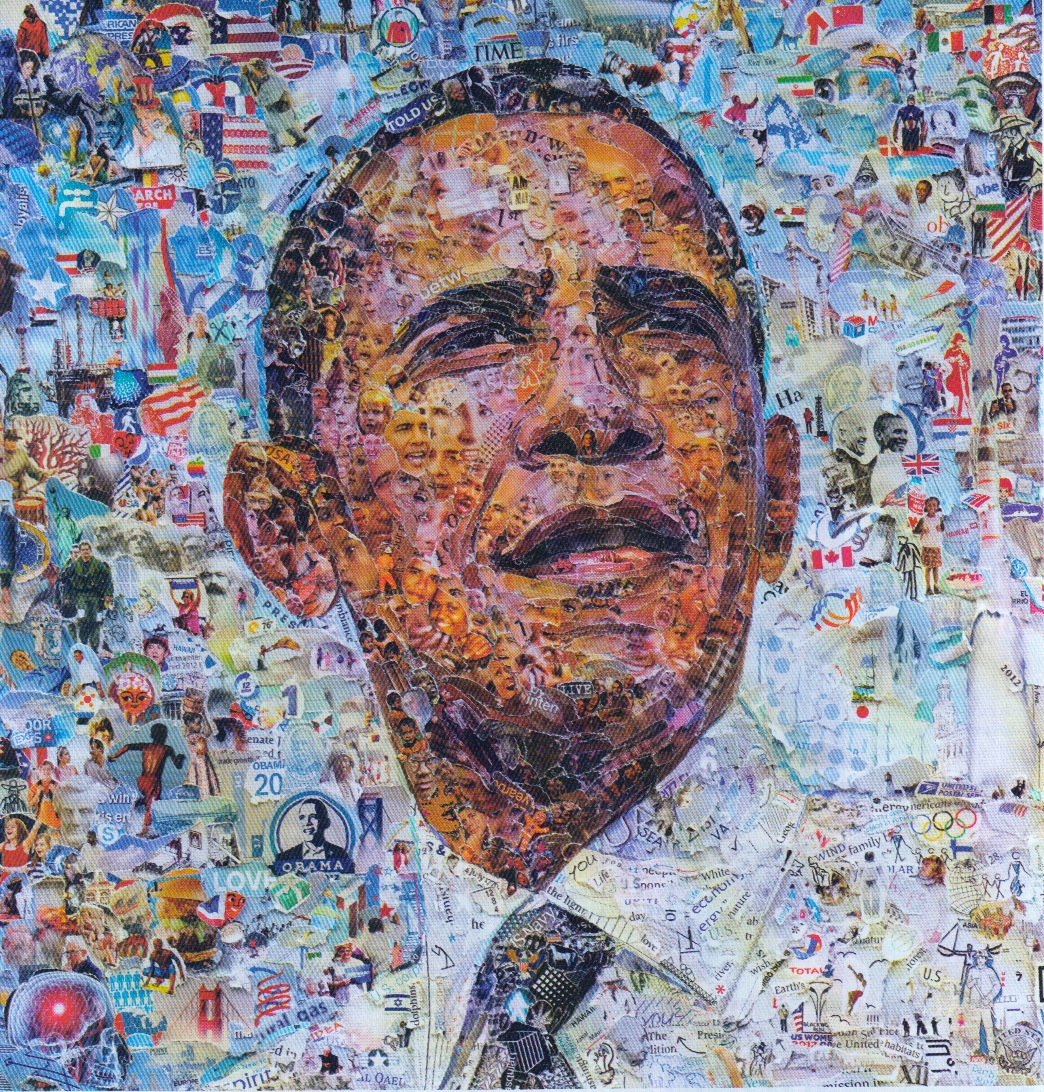 Obama by Vik Muniz – Ray Monde Artist
