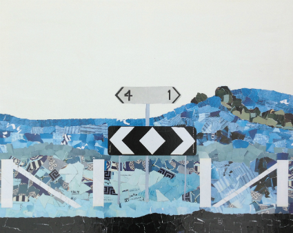 Dead end on Reservoir Lane, Mixed Media