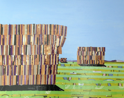 Stacked up on Braidwood Road, Mixed Media