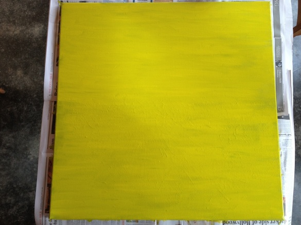 Yellow green textured canvas