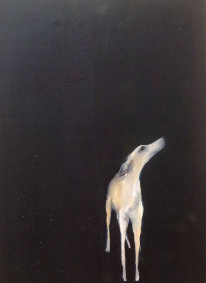 Dog, Sally Muir, Oil on canvas, 2014