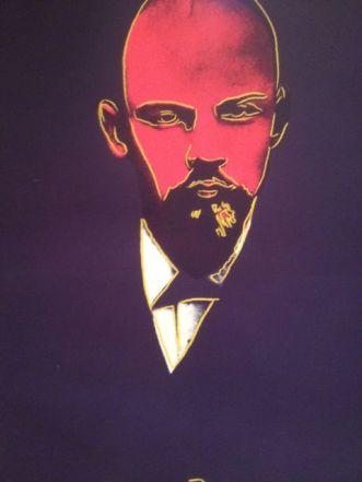 Blue Lenin, Andy Warhol