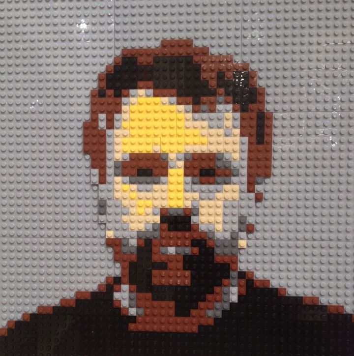 Self portrait, David Bullock, Lego, 2014