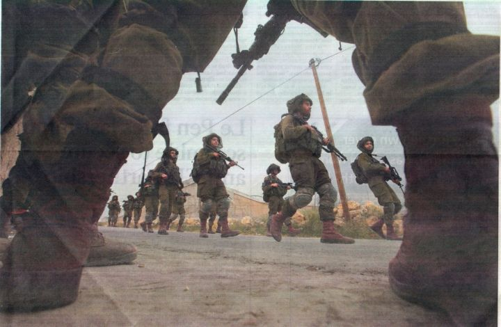 Israeli soldiers on the West Bank