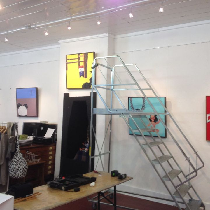 Hanging works at Stur Gallery for Dry your Tears