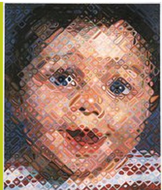 Chuck Close Emma 2000 oil on canvas © Chuck Close, courtesy Pace Gallery
