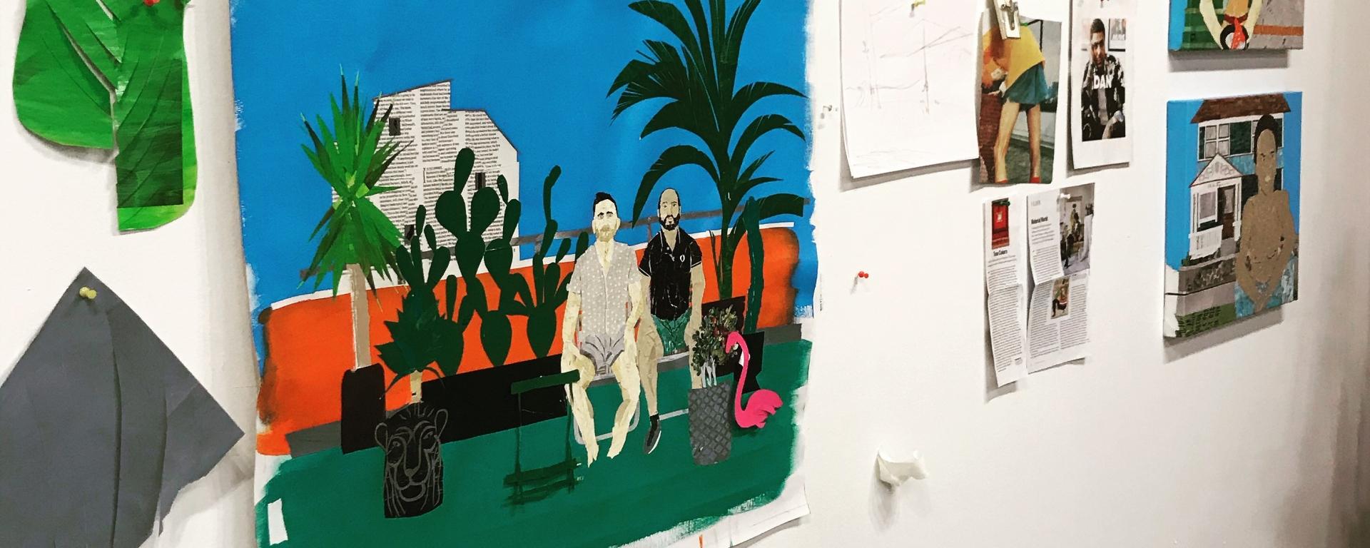 Inside the artist Ray Monde's studio