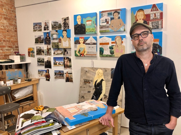 Artist Ray Monde in his studio in Seattle