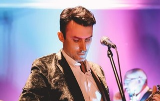 Richard Joyce on stage