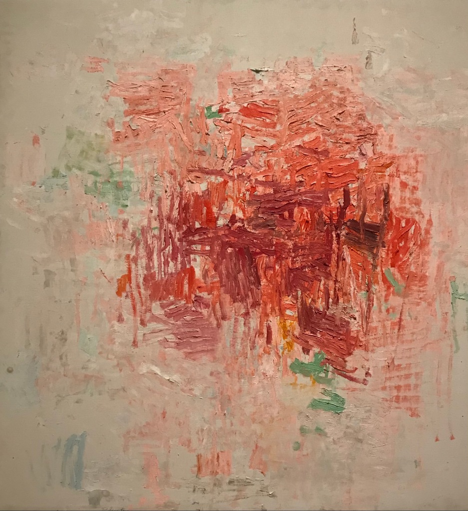 A rare abstract in red by Philip Guston