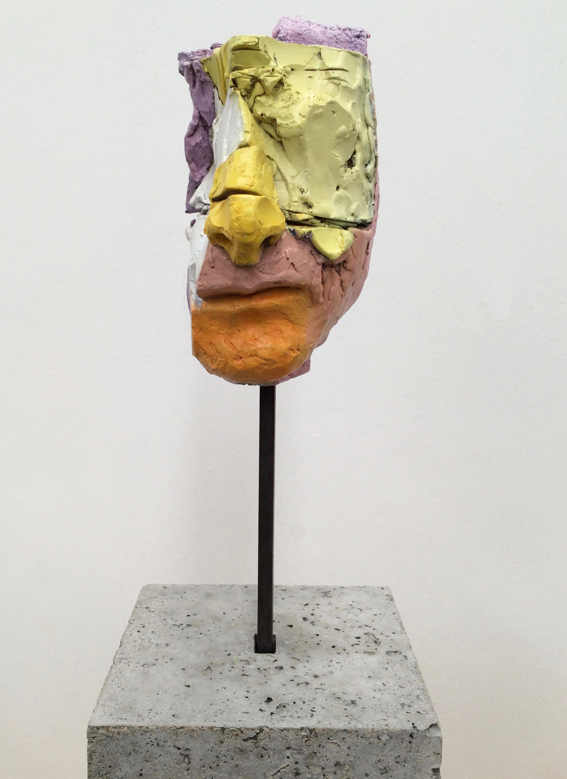 Bust of guy Maestris head in multi colours