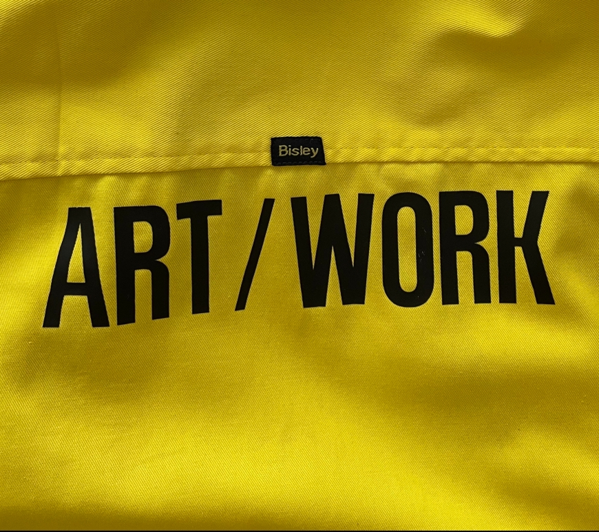 Hi-vis Bisley shirt with Art/Work on it by Ray Monde